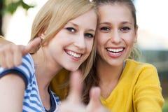 Amigos femeninos Foto de archivo