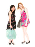Amigos femeninos que hacen compras fotografía de archivo libre de regalías