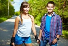 Amigos jóvenes Imagen de archivo libre de regalías