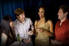 Amigos no clube Imagens de Stock Royalty Free