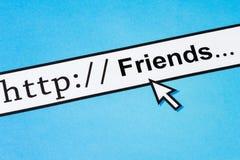 Amigos no Cyberspace fotografia de stock