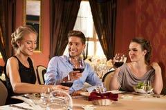 Amigos novos no restaurante fotos de stock royalty free