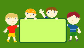 Amigos pequenos felizes Imagem de Stock