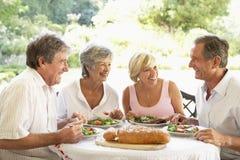 Amigos que comem um almoço do fresco do Al Imagem de Stock