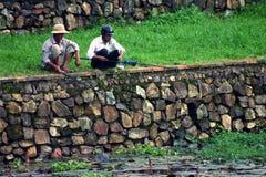 Compañeros de la pesca Imagen de archivo libre de regalías