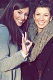 Amigos sonrientes Foto de archivo libre de regalías