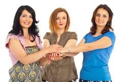 Amigos unidos das mulheres Foto de Stock Royalty Free