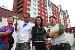 Amigos urbanos de la metrópoli Fotografía de archivo