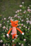 Amigurumi玩具 狐狸 免版税库存图片