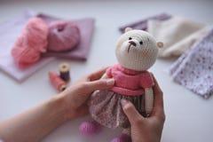 Amigurumi玩具 TeddyBear 免版税库存照片