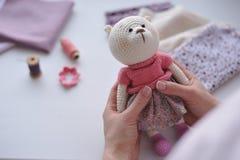 Amigurumi玩具 TeddyBear 图库摄影