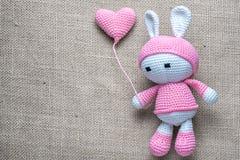 Amigurumi bunny toy Royalty Free Stock Photography