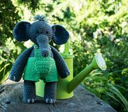 Amigurumi elephant stock photos