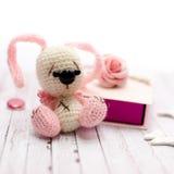Amigurumi et boîte-cadeau Photos stock