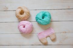 Amigurumi knitting in process Stock Photography