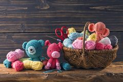 Amigurumi toys Royalty Free Stock Images