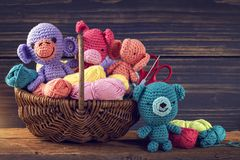 Amigurumi toys Stock Photography