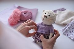 Amigurumi zabawka TeddyBear Fotografia Stock