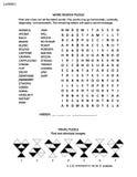 Łamigłówki strona z dwa móżdżkowymi grami Obraz Royalty Free