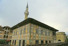 Amijado ¾ da arena DÅ de Å, mesquita decorada Macedônia Imagem de Stock