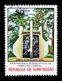 Amilcar Cabral mausoleum, 60th årsdag av födelse Amilcar Cabr Arkivbild