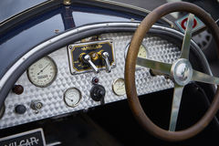 1925 Amilcar CGS dashboard and steering wheel Royalty Free Stock Photos