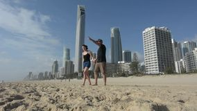 Amily visit in Surfers Paradise Australia stock video