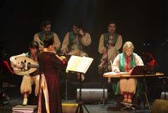 Amina Srarfi & El Azifet在巴林执行 免版税库存照片