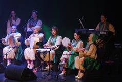 Amina Srarfi & El Azifet utför på Bahrain Royaltyfria Foton