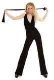 Amincissez blond dans le noir Image stock