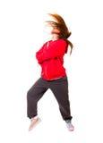 Amincissez la danse sportive hip-hop de fille Photo stock