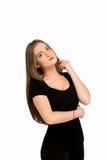 Amincissez la femme d'isolement, perte de poids, bonne forme Image libre de droits
