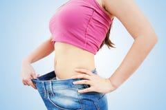 Amincissez la perte de poids convenable de femme Photo libre de droits