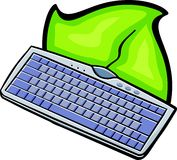 Amincissez le clavier illustration de vecteur