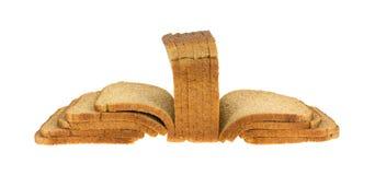 Amincissez le pain coupé en tranches de blé éventé  Photos libres de droits