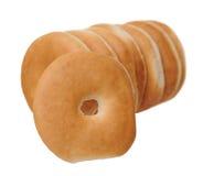 Amincissez les bagels cuits au four Photographie stock libre de droits