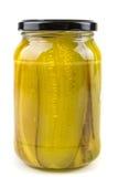 Amincissez les conserves au vinaigre coupées en tranches Images stock