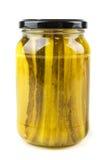 Amincissez les conserves au vinaigre coupées en tranches Photo libre de droits