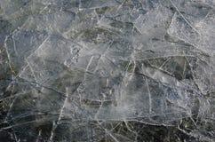 Amincissez les frissons de la glace cassée Image stock