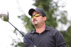 Amine Joudar au golf Prevens Trpohee 2009 Images libres de droits