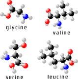 amino syror Stock Illustrationer