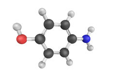 4-Aminophenol (or para-aminophenol or p-aminophenol), an organic Royalty Free Stock Photography