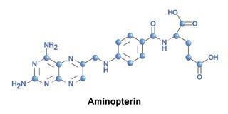 Aminopterin antineoplastic lek Obrazy Stock