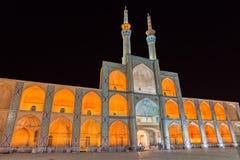 Amir Chakhmaq Complex dans Yazd par nuit Photo stock