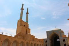 Amir Chakhmaq Complex is a Mosque in Yazd, Iran royalty free stock image