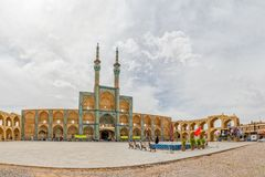 Amir Chakhmaq Complex-Panorama Stockfoto
