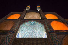 Amir Chakmak mosque in Yazd by night - Iran Stock Images
