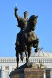 Amir Temur sul cavallo Fotografie Stock