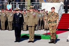 Amiral Binelli Mantelli, le Général Claudio Graziano, le Général D'addario Image libre de droits