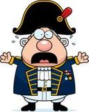 Amiral effrayé des Anglais de bande dessinée illustration libre de droits